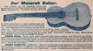 Monarch Guitar aus einem alten Katalog